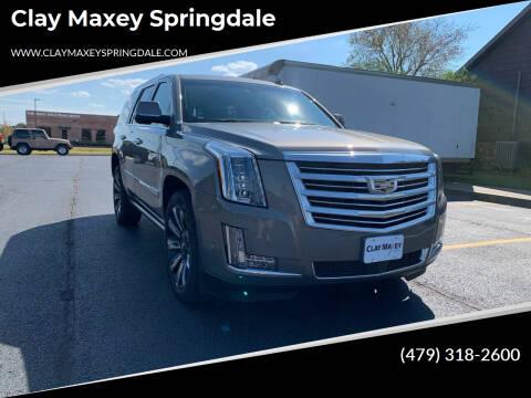 2018 Cadillac Escalade for sale at Clay Maxey Springdale in Springdale AR