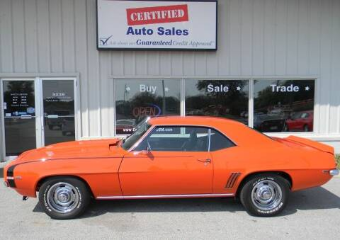 1969 Chevrolet Camaro for sale at Certified Auto Sales in Des Moines IA