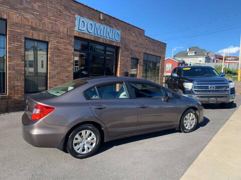 2012 Honda Civic for sale at Dominic Sales LTD in Syracuse NY