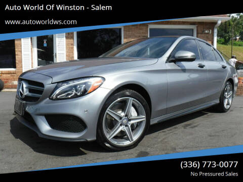 2015 Mercedes-Benz C-Class for sale at Auto World Of Winston - Salem in Winston Salem NC