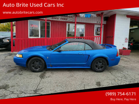 2000 Ford Mustang for sale at Auto Brite Used Cars Inc in Saginaw MI