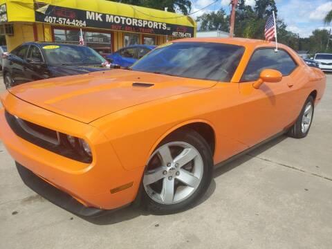 2012 Dodge Challenger for sale at MK Motorsports LLC. in Orlando FL