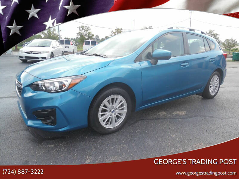 2018 Subaru Impreza for sale at GEORGE'S TRADING POST in Scottdale PA