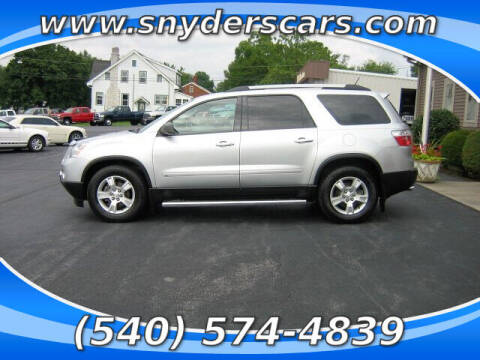 2010 GMC Acadia for sale at Snyders Auto Sales in Harrisonburg VA