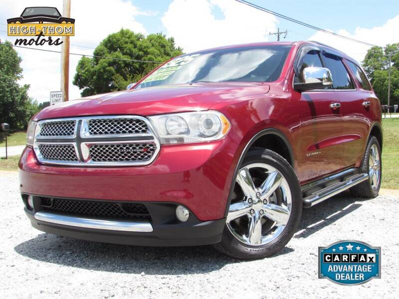 2013 Dodge Durango for sale at High-Thom Motors in Thomasville NC