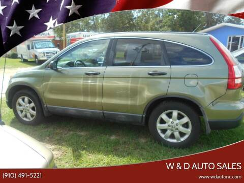 2008 Honda CR-V for sale at W & D Auto Sales in Fayetteville NC