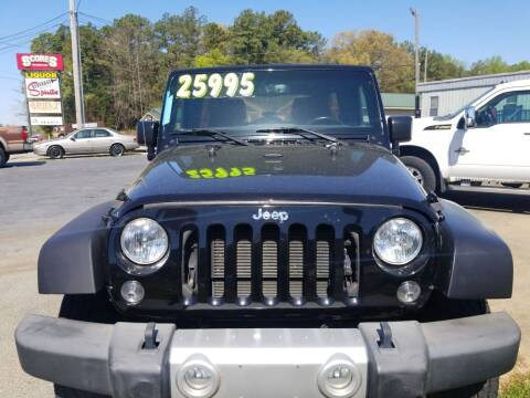 2016 Jeep Wrangler Unlimited for sale at AUTOPLEX 528 LLC in Huntsville AL