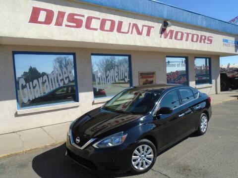 2016 Nissan Sentra for sale at Discount Motors in Pueblo CO