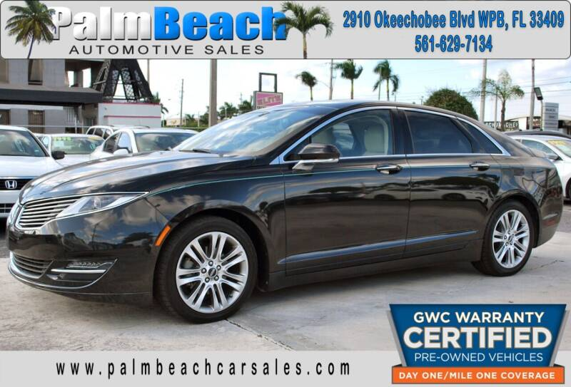 2014 Lincoln MKZ Hybrid for sale at Palm Beach Automotive Sales in West Palm Beach FL