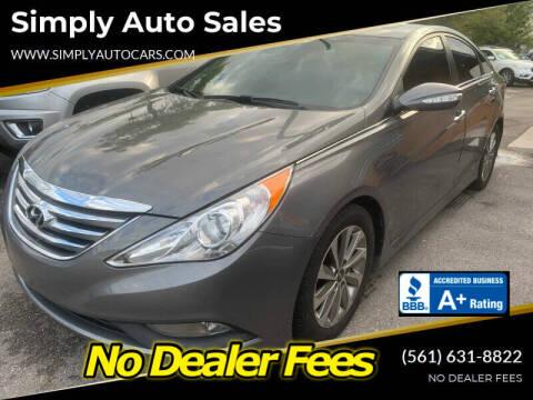 2014 Hyundai Sonata for sale at Simply Auto Sales in Palm Beach Gardens FL
