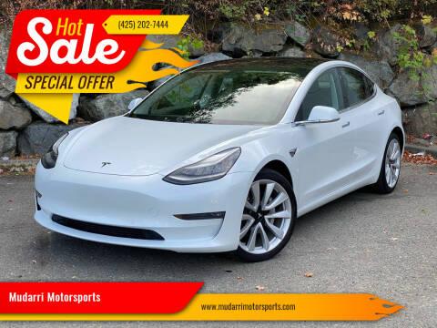 2018 Tesla Model 3 for sale at Mudarri Motorsports in Kirkland WA