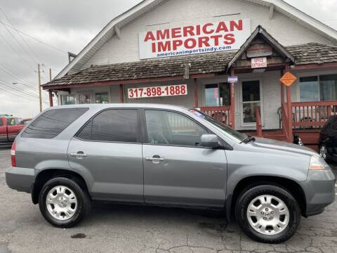2002 Acura MDX for sale at American Imports INC in Indianapolis IN