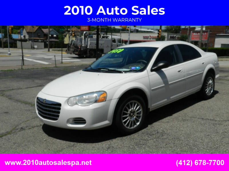 2004 Chrysler Sebring for sale at 2010 Auto Sales in Glassport PA
