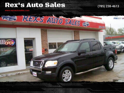 2008 Ford Explorer Sport Trac for sale at Rex's Auto Sales in Junction City KS