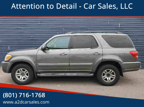 2006 Toyota Sequoia for sale at Attention to Detail - Car Sales, LLC in Ogden UT