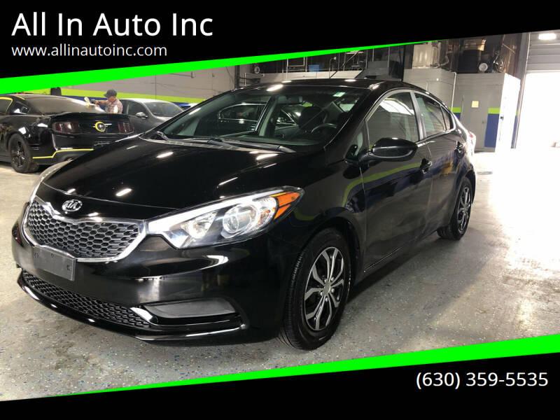 2014 Kia Forte for sale at All In Auto Inc in Addison IL