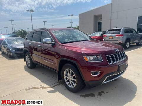 2016 Jeep Grand Cherokee for sale at Meador Dodge Chrysler Jeep RAM in Fort Worth TX