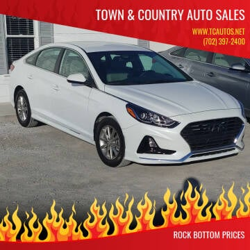2019 Hyundai Sonata for sale at TOWN & COUNTRY AUTO SALES in Overton NV