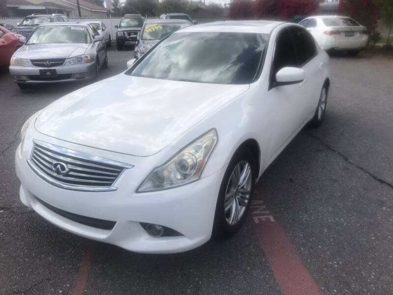 2012 Infiniti G37 Sedan for sale at AutoHaus in Colton CA