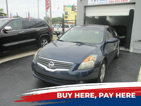 2008 Nissan Altima for sale at K & V AUTO SALES LLC in Hollywood FL