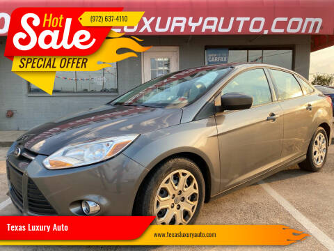 2012 Ford Focus for sale at Texas Luxury Auto in Cedar Hill TX