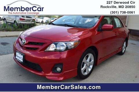 2013 Toyota Corolla for sale at MemberCar in Rockville MD