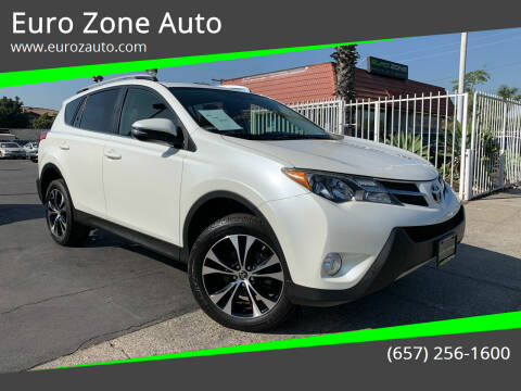 2015 Toyota RAV4 for sale at Euro Zone Auto in Stanton CA