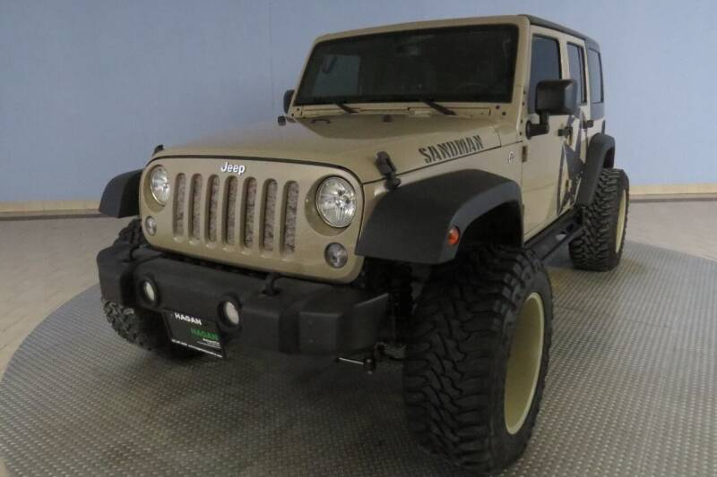 2016 Jeep Wrangler Unlimited for sale at Hagan Automotive in Chatham IL