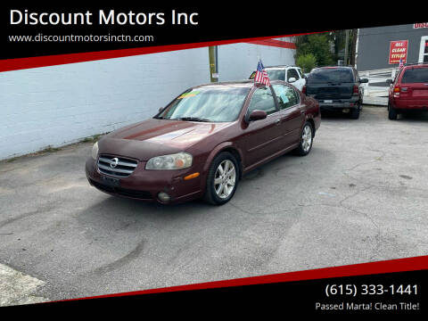 2002 Nissan Maxima for sale at Discount Motors Inc in Nashville TN