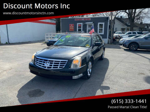 2007 Cadillac DTS for sale at Discount Motors Inc in Nashville TN