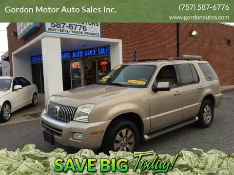 2006 Mercury Mountaineer for sale at Gordon Motor Auto Sales Inc. in Norfolk VA