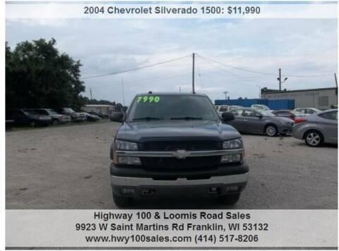 2004 Chevrolet Silverado 1500 for sale at Highway 100 & Loomis Road Sales in Franklin WI