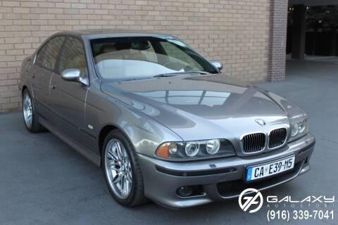 2002 BMW M5 for sale at Galaxy Autosport in Sacramento CA