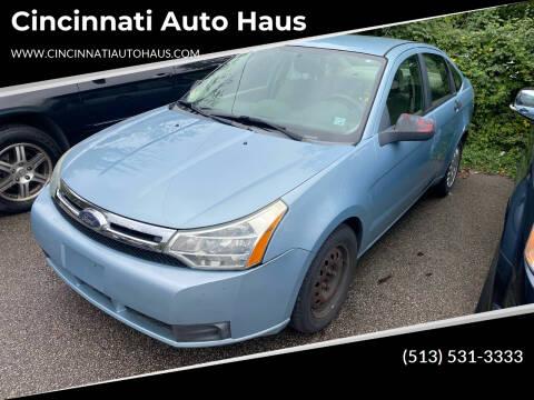 2008 Ford Focus for sale at Cincinnati Auto Haus in Cincinnati OH