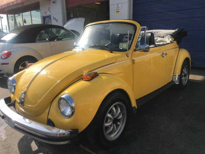 1975 Volkswagen Beetle Convertible for sale at TOP TWO USA INC in Oakland Park FL