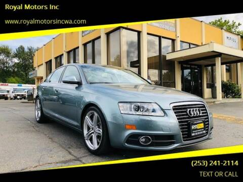 2011 Audi A6 for sale at Royal Motors Inc in Kent WA