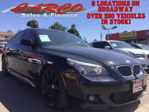 2009 BMW 5 Series for sale at CARCO SALES & FINANCE #2 in Chula Vista CA