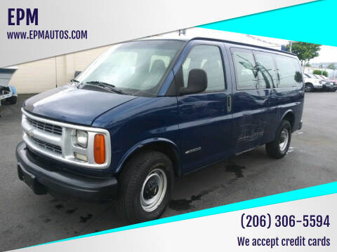 2002 Chevrolet Express Passenger for sale at EPM in Auburn WA