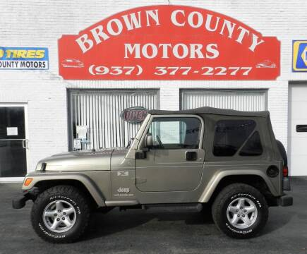 2004 Jeep Wrangler for sale at Brown County Motors in Russellville OH
