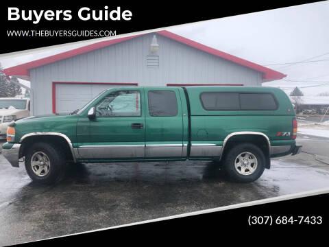 2000 GMC Sierra 1500 for sale at Buyers Guide in Buffalo WY