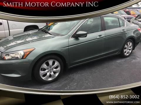 2009 Honda Accord for sale at Smith Motor Company INC in Mc Cormick SC