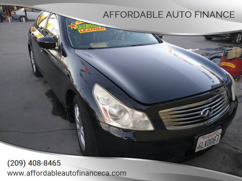 2009 Infiniti G37 Sedan for sale at Affordable Auto Finance in Modesto CA
