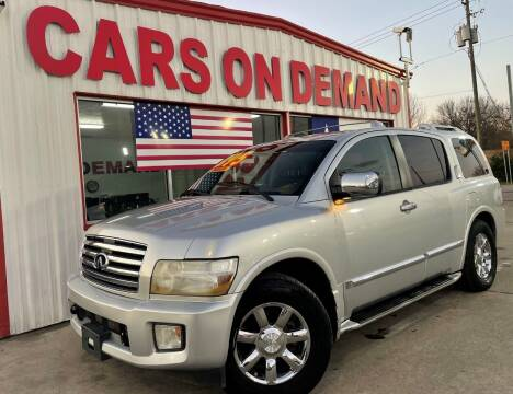 2006 Infiniti QX56 for sale at Cars On Demand 3 in Pasadena TX
