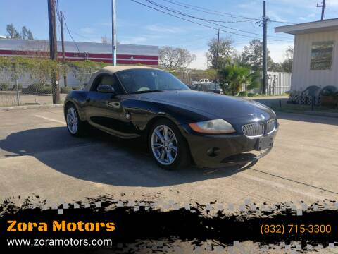 2003 BMW Z4 for sale at Zora Motors in Houston TX