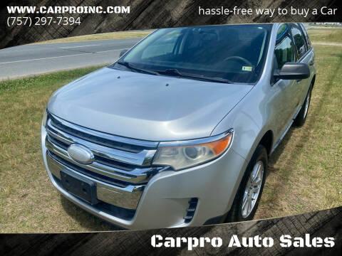 2011 Ford Edge for sale at Carpro Auto Sales in Chesapeake VA