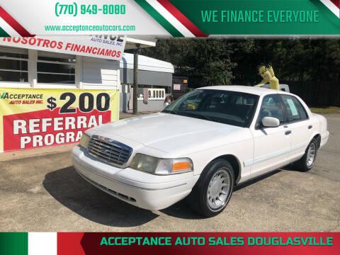 2002 Ford Crown Victoria for sale at Acceptance Auto Sales Douglasville in Douglasville GA