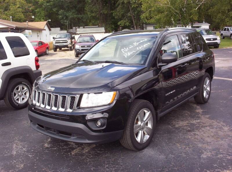 2012 Jeep Compass for sale at LAKESIDE MOTORS LLC in Houghton Lake MI