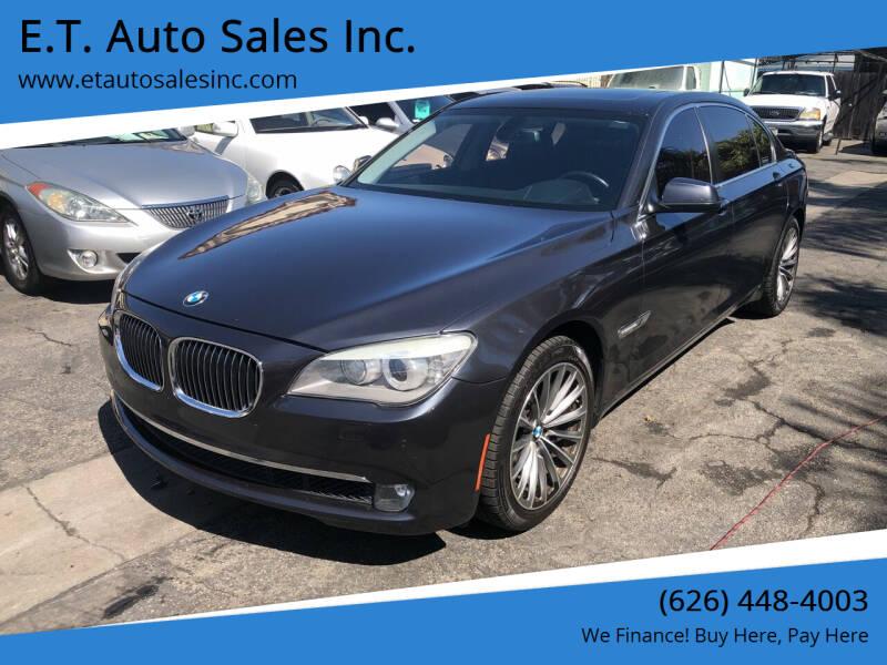 2012 BMW 7 Series for sale at E.T. Auto Sales Inc. in El Monte CA