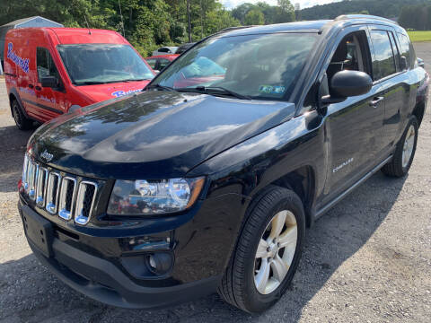2015 Jeep Compass for sale at BURNWORTH AUTO INC in Windber PA