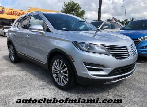 2015 Lincoln MKC for sale at AUTO CLUB OF MIAMI in Miami FL